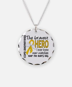 Bravest Hero I Knew COPD Necklace