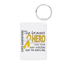 Bravest Hero I Knew COPD Keychains