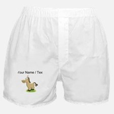 Custom Cartoon Horse Boxer Shorts