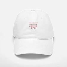 Custom Pink Pig Baseball Baseball Baseball Cap
