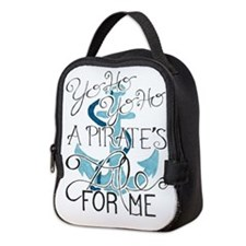 Cute Pirate ships Neoprene Lunch Bag