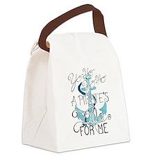 Cute Boat Canvas Lunch Bag