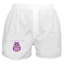 Custom Purple Owl Boxer Shorts