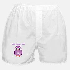 Custom Purple Owl Boxer Shorts