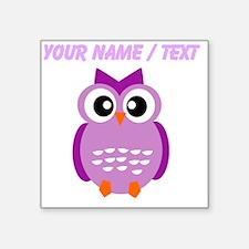 Custom Purple Owl Sticker