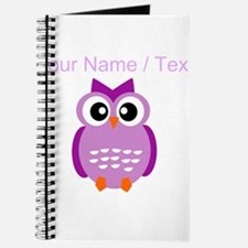 Custom Purple Owl Journal