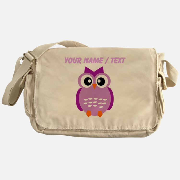 Custom Purple Owl Messenger Bag