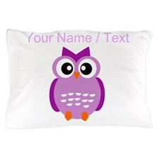 Custom Purple Owl Pillow Case