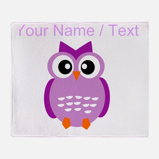 Custom Purple Owl Throw Blanket