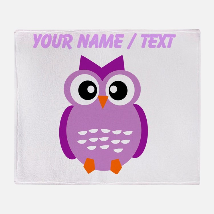 Custom Purple Owl Throw Blanket