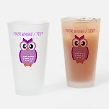 Custom Purple Owl Drinking Glass
