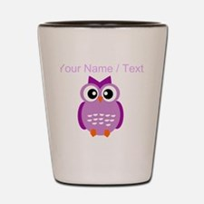 Custom Purple Owl Shot Glass