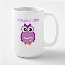 Custom Purple Owl Mugs