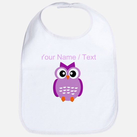 Custom Purple Owl Bib