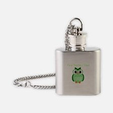 Custom Green Owl Flask Necklace