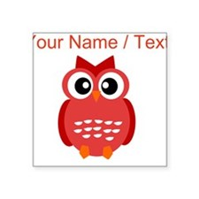 Custom Red Owl Sticker