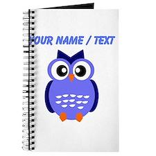 Custom Blue Owl Journal