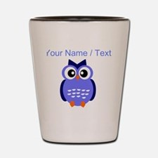 Custom Blue Owl Shot Glass