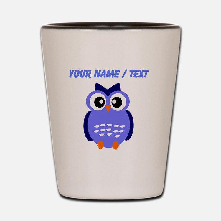 Custom Blue Owl Shot Glass
