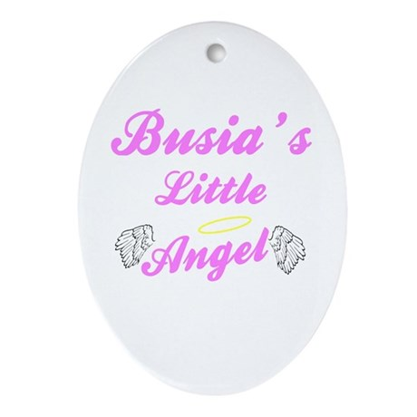 Busia's Little Angel Oval Ornament