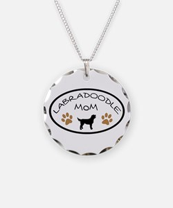 Labradoodle Mom Oval Necklace