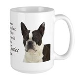 Boston terrier Large Mugs (15 oz)