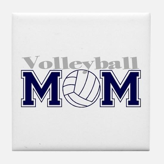 Volleyball Mom II Tile Coaster