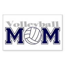 Volleyball Mom II Rectangle Decal