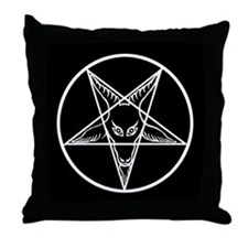 White Baphomet Throw Pillow