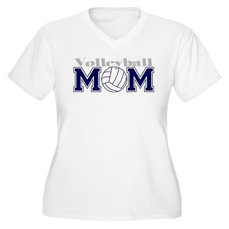 Volleyball Mom II Women's Plus Size V-Neck T-Shirt