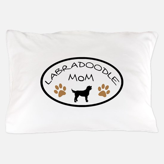 Labradoodle Mom Oval Pillow Case