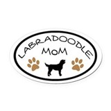 Labradoodle Oval Car Magnets