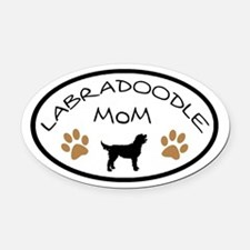 Labradoodle Mom Oval Oval Car Magnet