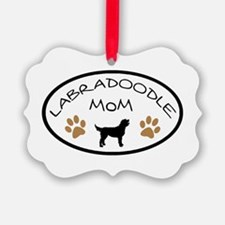 Labradoodle Mom Oval Ornament