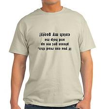 Upside down goat farmer T-Shirt
