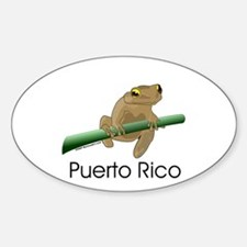 Coqui Boricua Oval Decal