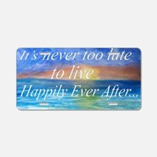Beach inspiration Aluminum License Plate