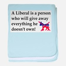 anti liberal give away baby blanket