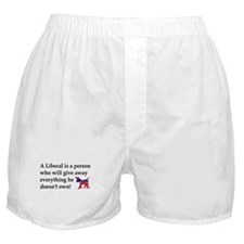 anti liberal give away Boxer Shorts