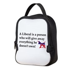 anti liberal give away Neoprene Lunch Bag