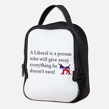 anti liberal give away Neoprene Lunch Bag