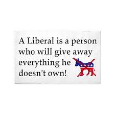 anti liberal give away 3'x5' Area Rug