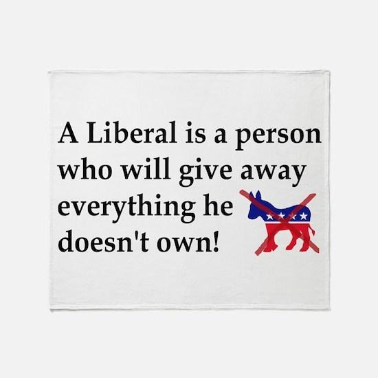 anti liberal give away Throw Blanket