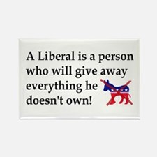anti liberal give away Magnets