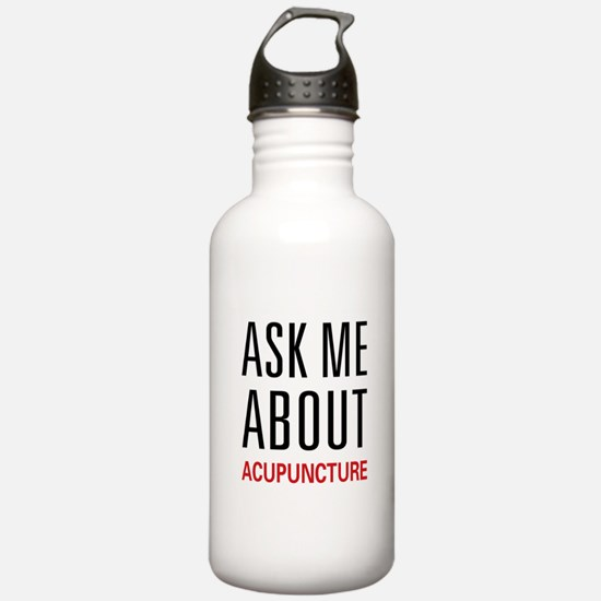 Ask Me Acupuncture Sports Water Bottle