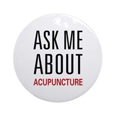 Ask Me Acupuncture Ornament (Round)