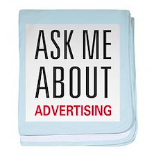 Ask Me Advertising baby blanket