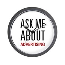 Ask Me Advertising Wall Clock