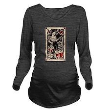 Pin-ups Long Sleeve Maternity T-Shirt