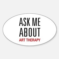 Ask Me About Art Therapy Oval Decal